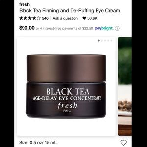 FRESH BEAUTY black tea eye cream